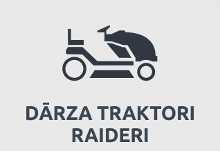 Dārza traktori un raideri
